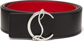 Christian Louboutin Logo-buckle Leather Belt - Black