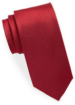 Black Brown 1826 Micro Dot Textured Silk Tie