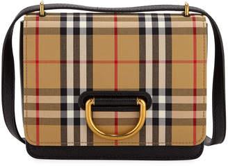 Burberry Small D-Ring Check Crossbody Messenger Bag