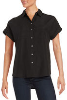 Lord & Taylor Two Pocket Button-Down Blouse