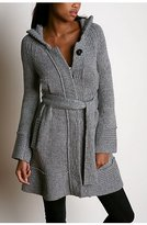 Hooded Sweater Duster