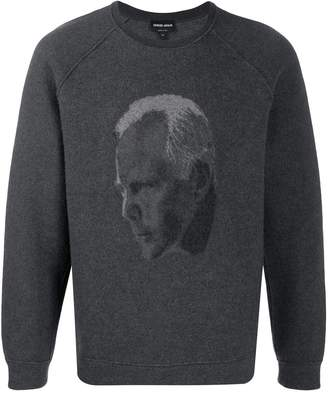 Giorgio Armani crew neck self-portrait jumper
