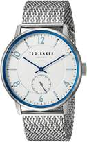Ted Baker Men's 'OWEN' Quartz Stainless Steel Casual Watch, Color:Silver-Toned (Model: TE50278001)