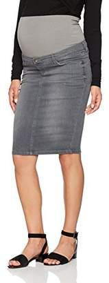 Noppies Women's Jeans OTB Joy Grey Aged Clean Edge Maternity Skirt, Denim C307, 10 (Size: )