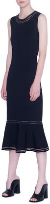 Akris Punto Lace-Inset Jersey Bodycon Dress