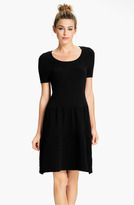 FELICITY & COCO Short Sleeve Pointelle Sweater Dress (Nordstrom Exclusive)