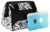 Fit & Fresh Downtown Insulated Lunch Bag with Reusable Ice Pack - Ebony Floral