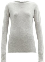 Raey Sheer Raw-edge Crew-neck Cashmere Sweater - Womens - Light Grey