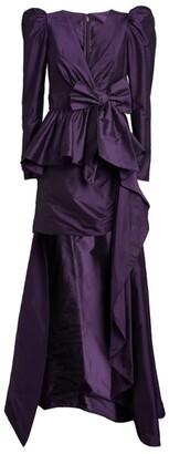 ZUHAIR MURAD Asymmetric Puff-Shoulder Dress