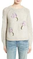 Rebecca Taylor Women's Floral Intarsia Sweater