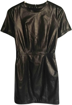 Trussardi Black Leather Dress for Women