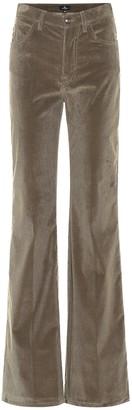 Etro High-rise wide-leg corduroy pants