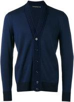 Alexander McQueen V-neck cardigan - men - Cotton/Wool - M