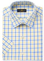 Club Room Men's Classic/Regular Fit Short Sleeve Dress Shirt, Only at Macy's