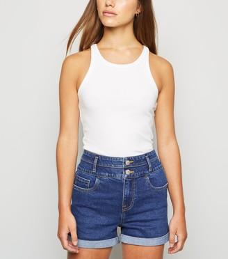 New Look Petite High Waist 'Lift & Shape' Denim Shorts