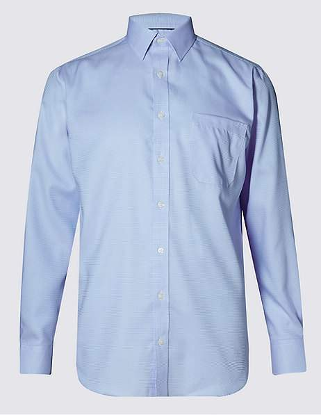 b63aafdf84d7 Marks and Spencer Men's Longsleeve Shirts - ShopStyle