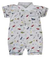 Kissy Kissy Baby Aviators Print Short Playsuit With Collar- 12-18 Months