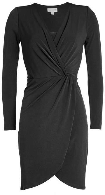 Velvet Jersey Wrap Dress