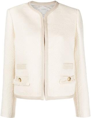 Sandro Collarless Cotton Jacket