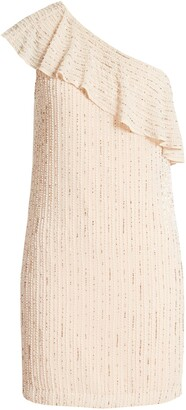 ONE33 SOCIAL One-Shoulder Beaded Cocktail Dress