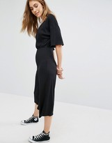 Pull&Bear Ribbed Culotte Jumpsuit