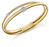Marco Bicego 18K Yellow Gold Masai Two Strand Crossover Diamond Bracelet