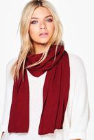 Boohoo Lucy Super Soft Extra Long Knit Scarf