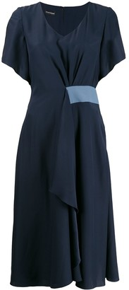 Emporio Armani V-Neck Midi Dress