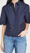 Thumbnail for your product : Jason Wu Cropped Short Sleeve Shirt