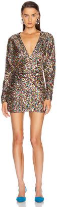 ATTICO Sequin Mini Dress in Multicolor | FWRD