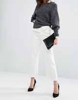 DL1961 Hepburn Crop Wide Leg Jean with Raw Hem