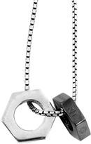 Tateossian Gunmetal Chain Bolt Necklace