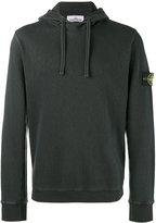 Stone Island embroidered logo hoodie - men - Cotton - S