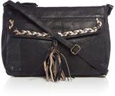 Pieces Purple leather hobo bag
