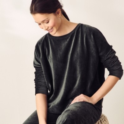 The White Company Cord Jersey Sweatshirt, Olive, Small