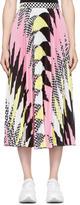 MSGM Pink Pleated Zig Zag Skirt