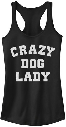 Juniors' Crazy Dog Lady Graphic Tank