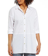 Eileen Fisher Classic Collar Oversized Shirt
