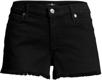 7 For All Mankind Mid-Rise Cut-Off Denim Shorts