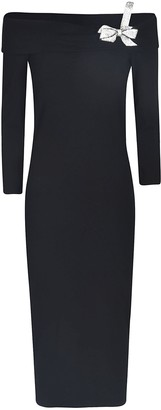 Blumarine Bow Applique Slim Dress