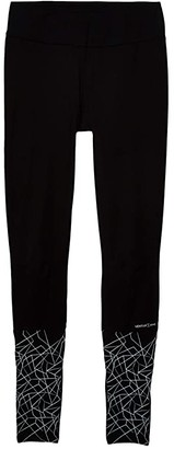 Craft Warm Train Wind Tights (Black/Asphalt) Women's Clothing