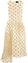 Simone Rocha Gathered Embroidered Tulle Midi Dress - Cream