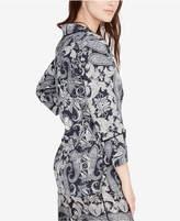 Rachel Roy Paisley Pajama-Inspired Top, Created for Macy's