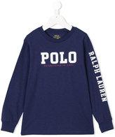 Ralph Lauren logo print sweatshirt - kids - Cotton - 5 yrs