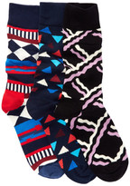 Happy Socks Assorted Print Sock - Pack of 3