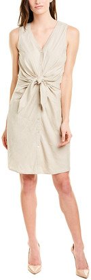 J.Mclaughlin Linen-Blend Sheath Dress