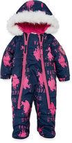 U.S. Polo Assn. Pram Heavyweight Logo Snow Suit-Baby Girls