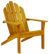 The Well Appointed House Kingsley Bate Teak Adirondack Chair with Optional Ottoman