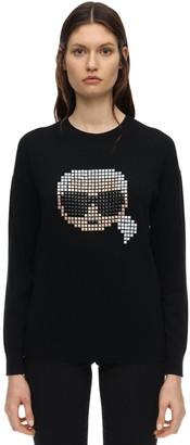 Karl Lagerfeld Paris Pixel Cotton & Modal Sweatshirt