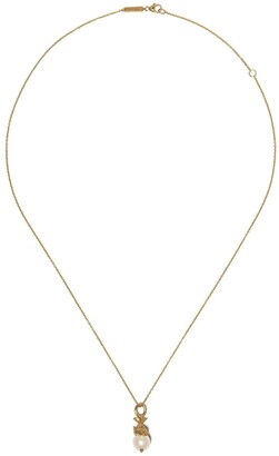 Stephen Webster 18kt yellow gold Pisces Astro Ball pearl necklace